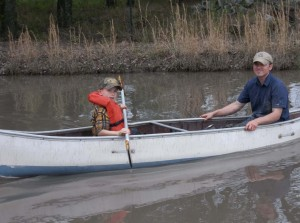 Brother Mark Goes for a Canoe ride with his son James