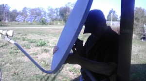 Setting up a Satellite Dish
